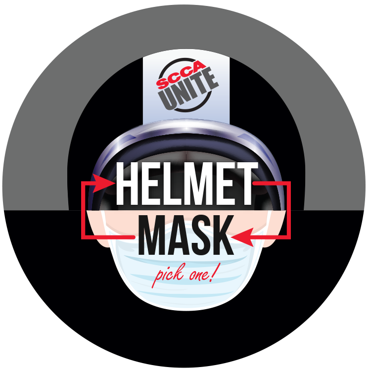 2636 Helmets Off / Masks On Stickers