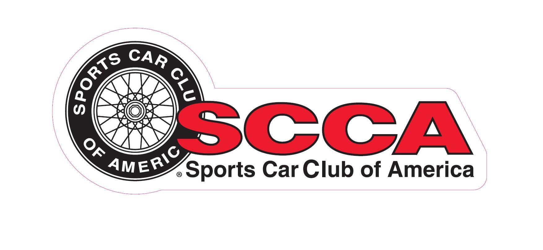 "2624 SCCA Wire Wheel Logo decal (8 3/4"" x 3 3/4"")"