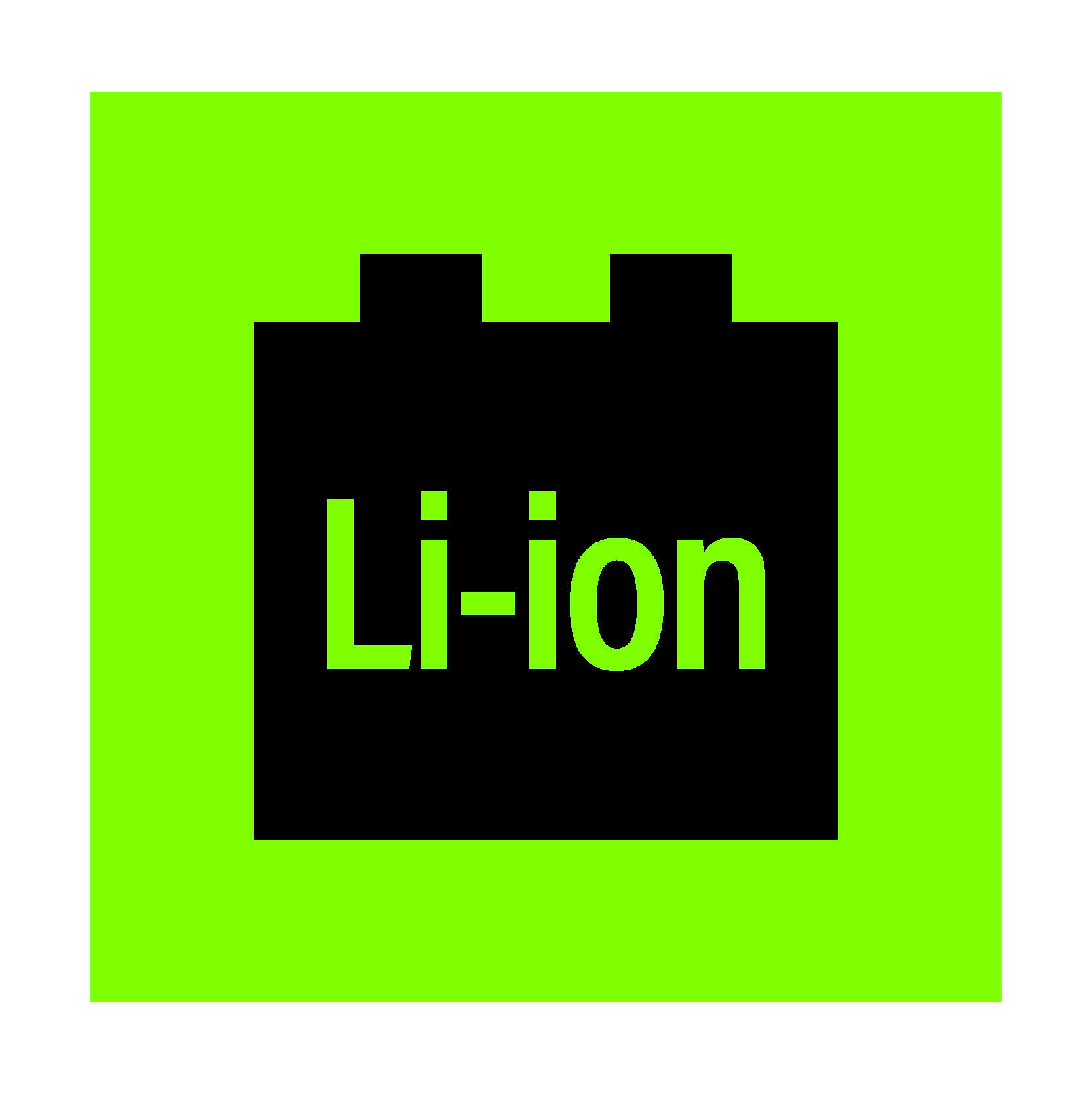 """2637 Lithium Ion Battery decal (1 3/4"""" x 1 3/4"""")"""